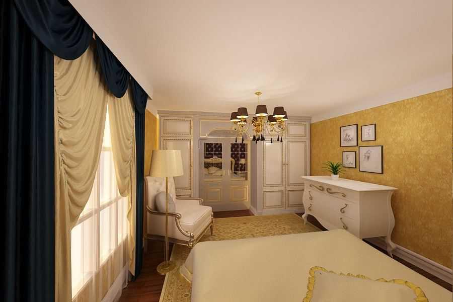 amenajare dormitor clasic de lux