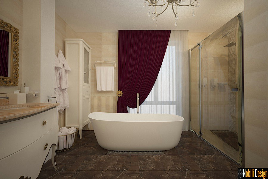 design interior classical luxury bathroom bucharest | Indoor modern classical baths.