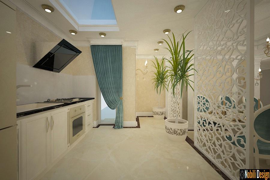 diseño interior clasico de lujo cocina bucuresti | Empresa de diseño de interiores de Bucarest.