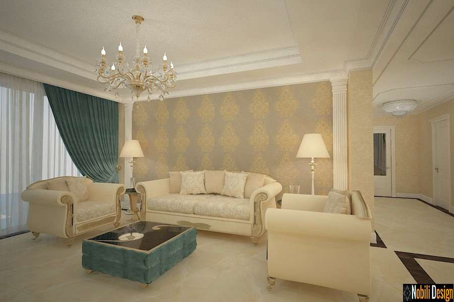 Interior design classic house Bucharest.