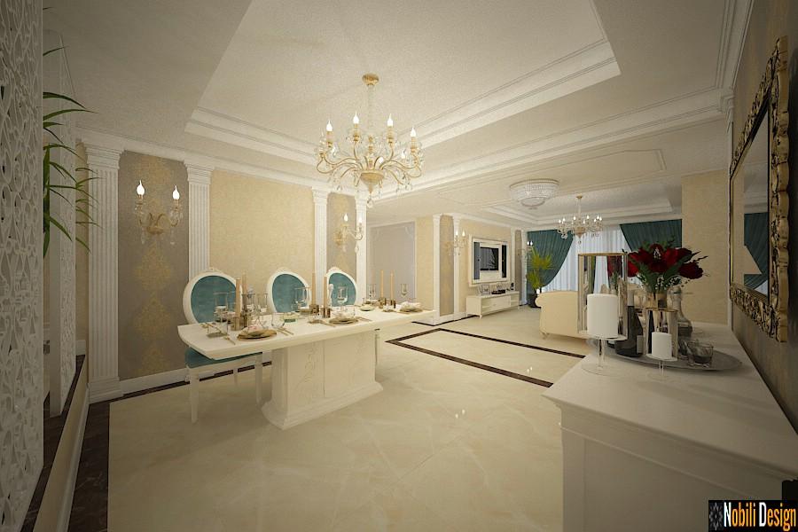 Proiect design interior pentru casa stil clasic de lux