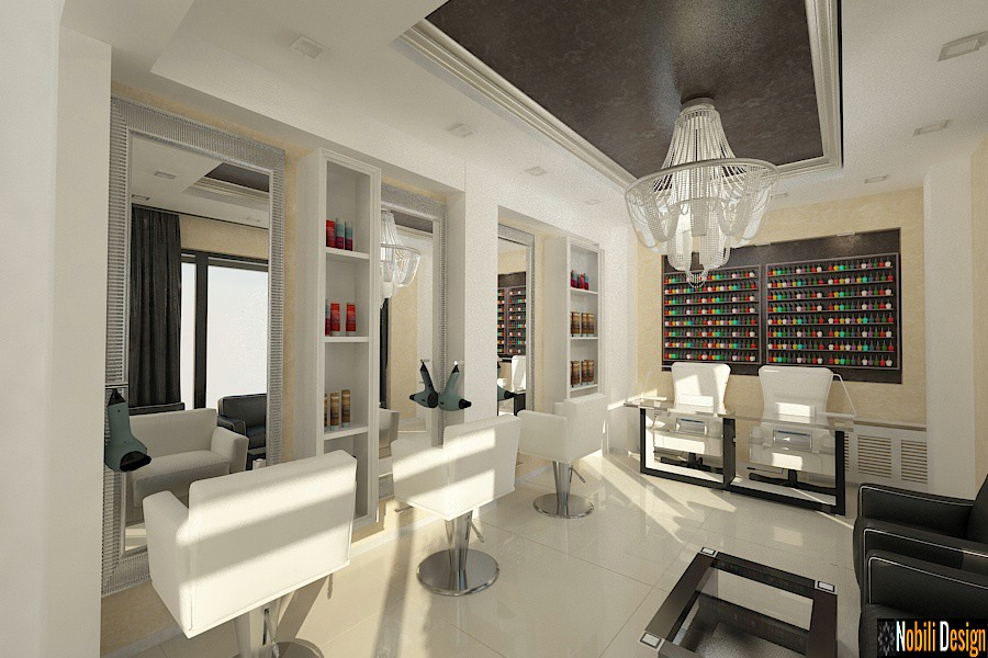 Interior design beauty salon Bucharest.
