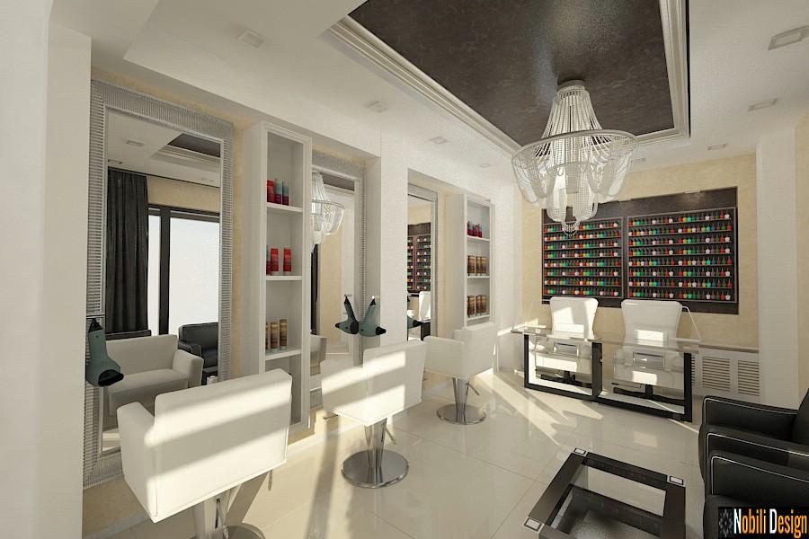 Diseño de interiores salón de belleza Bucarest.