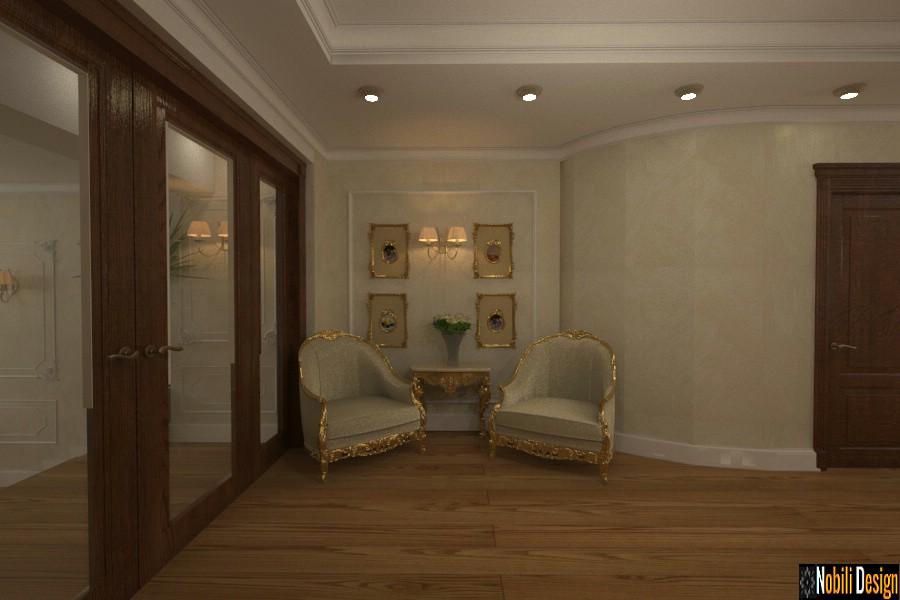 Amenajare interioara hol casa clasica moderna Giurgiu.