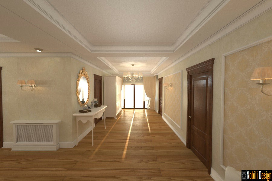 Design interior hol casa clasic modern Giurgiu.