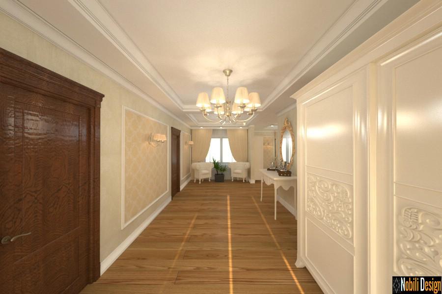 diseño interior hall clásico moderno casa giurgiu Casa de diseño interior Giurgiu.
