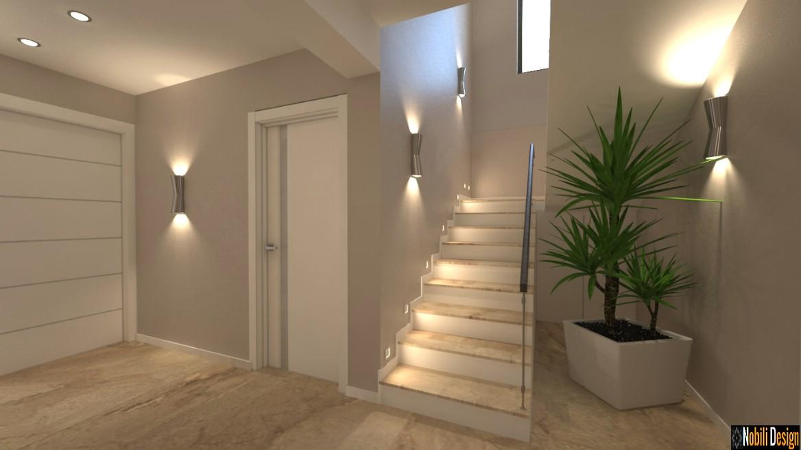 design interior hol casa moderna ploiesti | proiect de design interior casa.