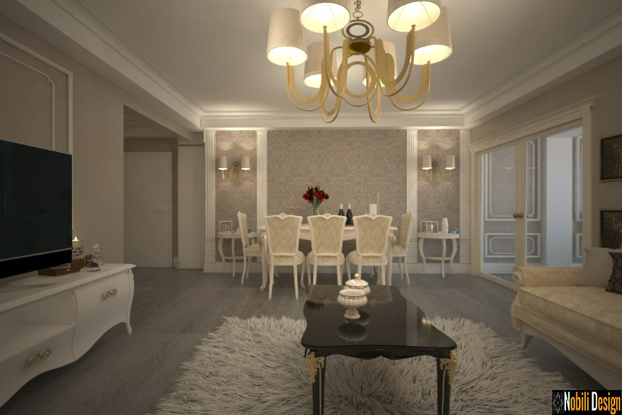 Design interior apartament clasic in Galati