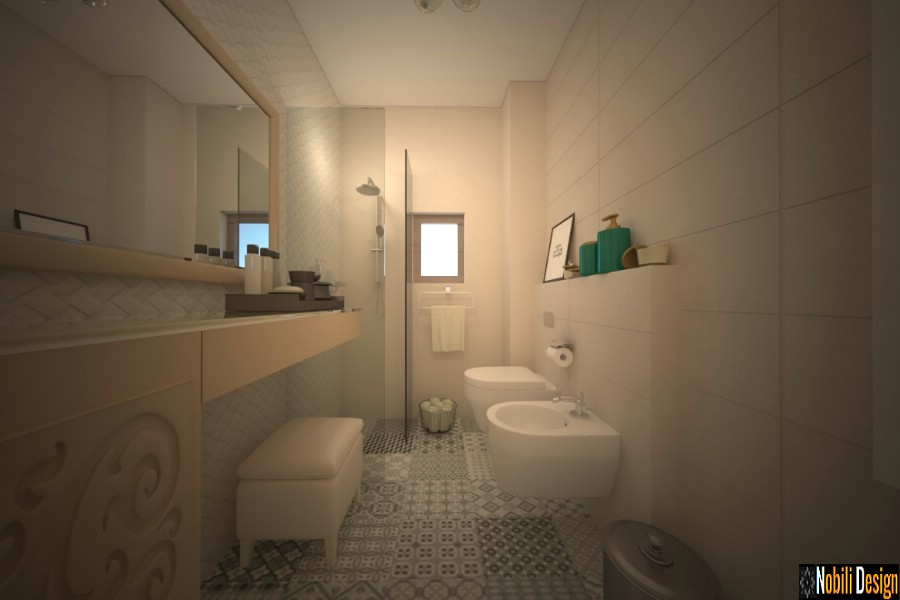 interior design modern bathrooms galati prices | Design interior modern upstairs bathroom in Galati.