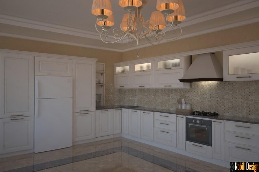 design de interiores clássico cozinhas price | Cozinha de cozinha de estilo clássico em Galati.