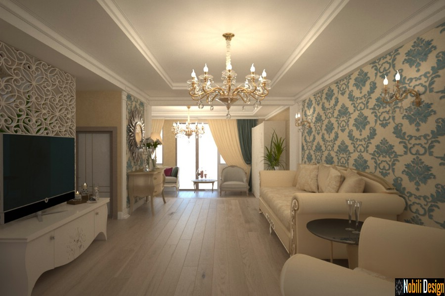 Interior design classic house in Galati.