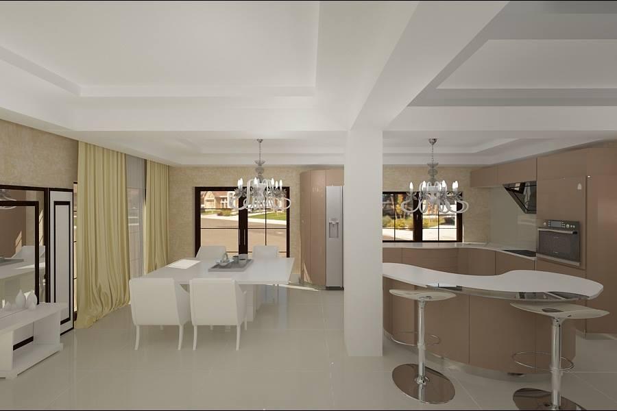 Amenajare living dormitor casa stil modern for Interioare case moderne