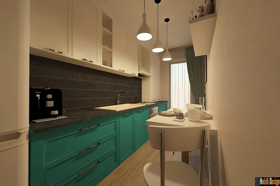 Amenajare - interioara - bucatarie - apartament - 3 camere - Bucuresti.