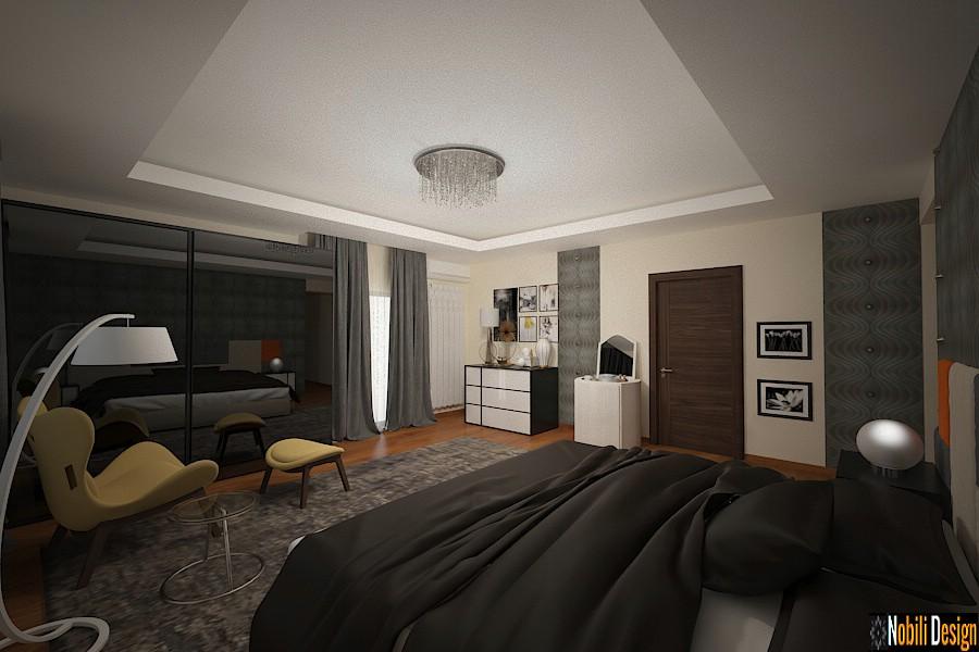 Amenajare interioara dormitor casa moderna in bucuresti.