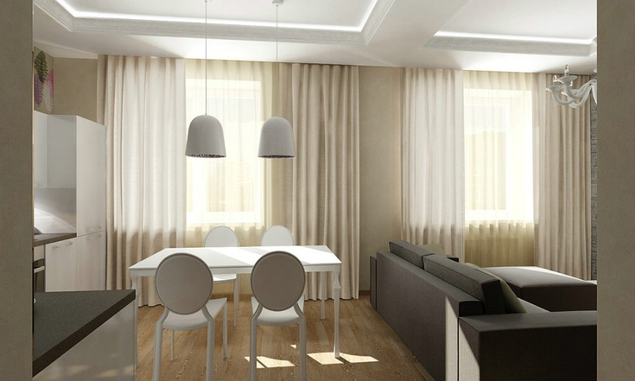Amenajare - interioara - living - bucatarie - apartament - open space - Calarasi| Design - interior - dormitor - Calarasi.