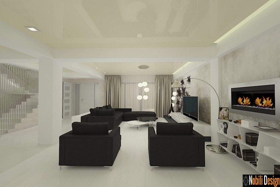 Amenajare interioara casa moderna bucuresti for Casa moderna living