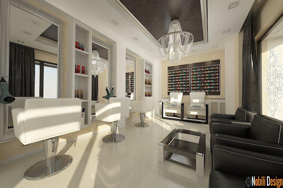 Diseño de interiores salón de belleza Bucarest