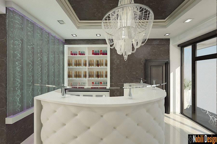 Amenajare salon de infrumusetare coafor cosmetica - Campina. Design - interior - Campina.