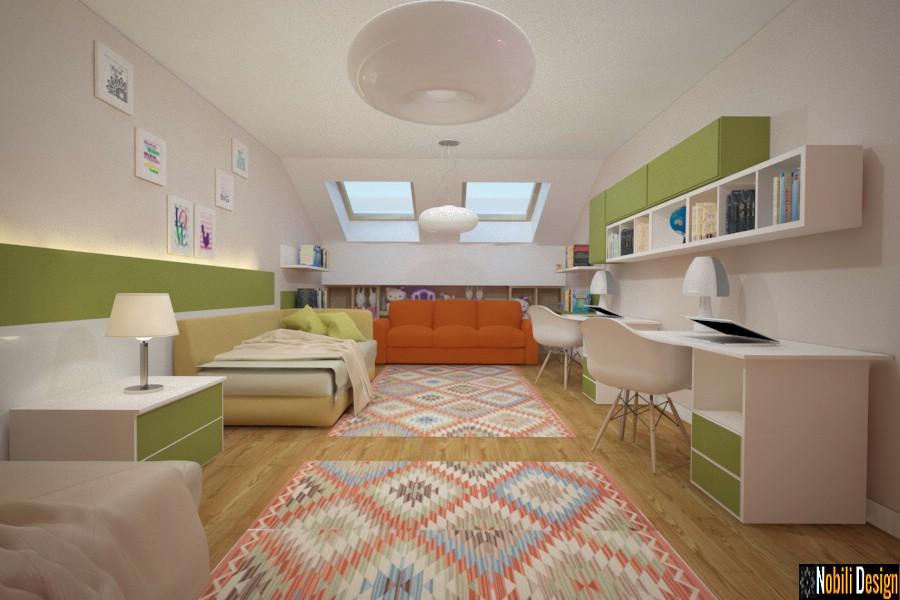 amenajare dormitor casa cu mansarda constanta | Amenajari dormitoare in mansarde.