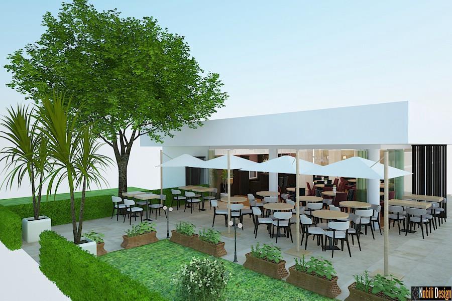 Amenajari - exterioare - terase - restaurant - modern.