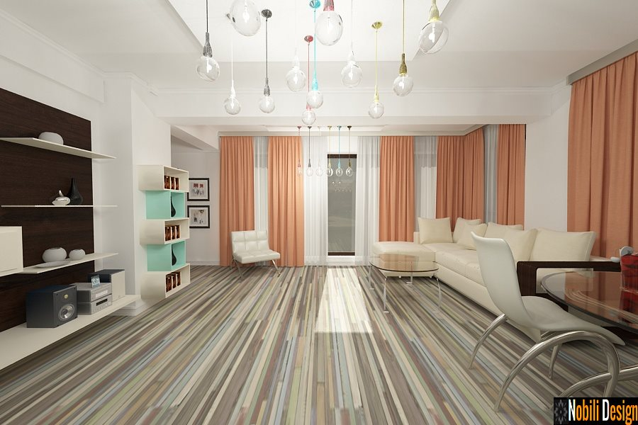 Amenajari - interioare - apartamente - 3 camere - bucuresti.