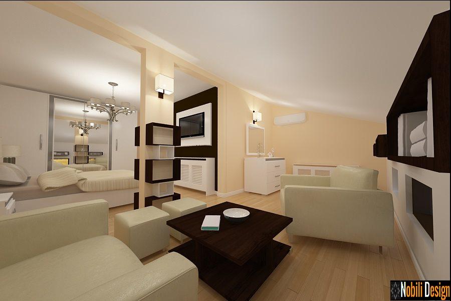 Amenajare interioara dormitor mansarda for Design interior case