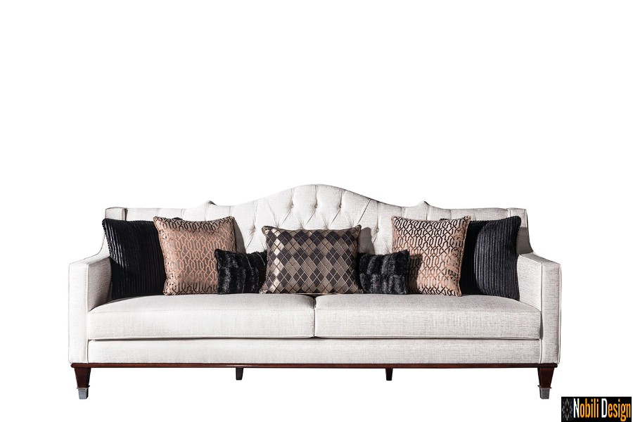 amenajare interioara living clasic modern cu mobilier canapea de lux   Canapea living clasic modern pret.