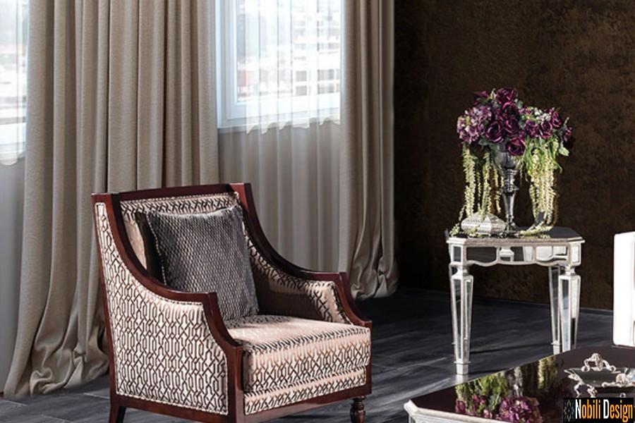 amenajare interioara living clasic modern cu mobilier fotoliu pret | Amenajari interioare living cu mobila Ploiesti.