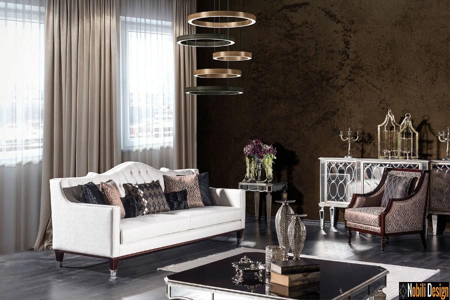 amenajare interioara living clasic modern cu mobilier pret | Amenajari interioare living cu mobila clasica.