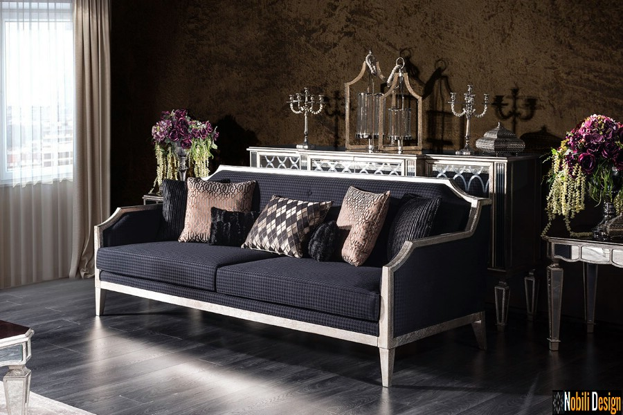 amenajare interioara living cu mobilier de lux canapea pret | Amenajari interioare living cu mobila Galati.