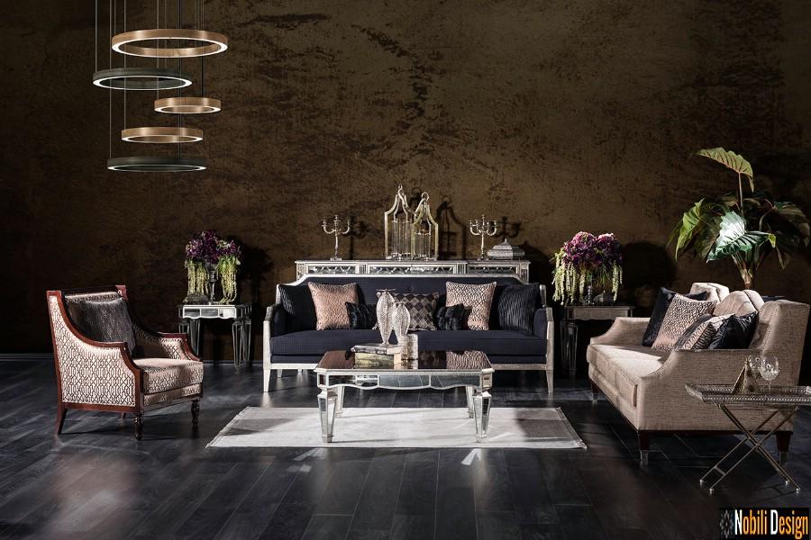 amenajare interioara living cu mobilier de lux chanel | Amenajari interioare living cu mobila clasica.