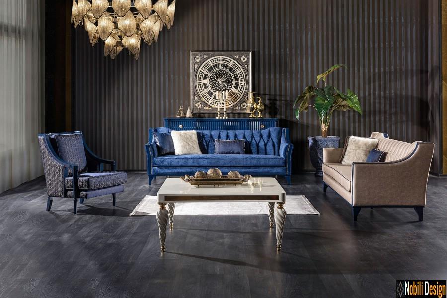amenajari interioare living clasic mobilier modern de lux | Amenajare living casa clasica de lux in Tulcea.