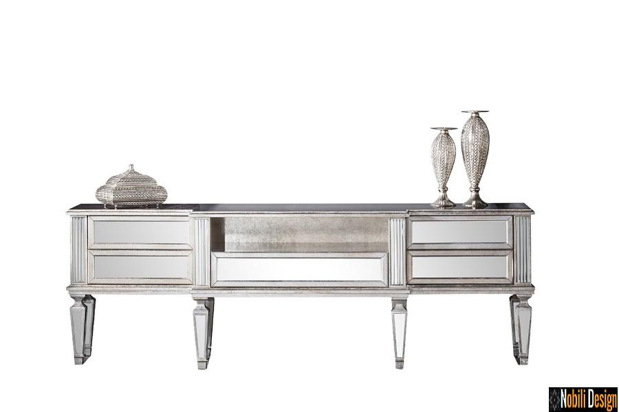 amenajari interioare living modern mobilier de lux pret galati | Vitrina tv living clasic de lux pret.
