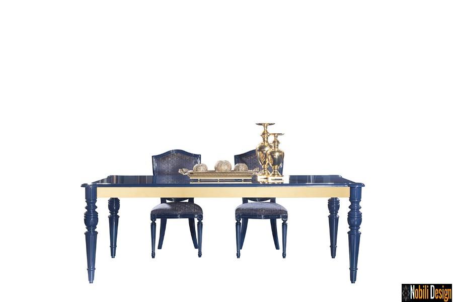 amenajari interioare dining casa clasic modern cu mobilier de lux | Amenajare living casa moderna in Bucuresti.