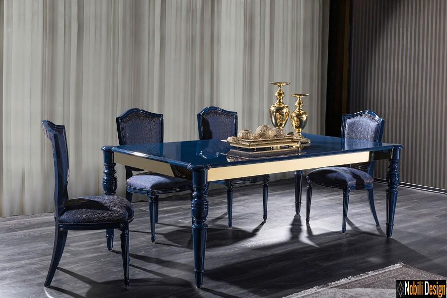 amenajari interioare dining clasic modern cu mobilier de lux | Design interior dining casa Bucuresti.