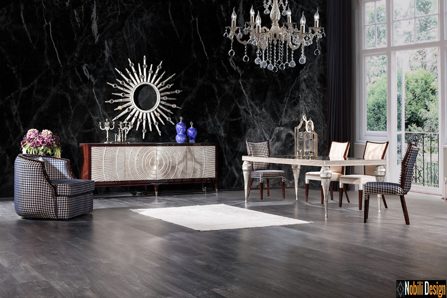 interior design classic modern living room with luxury furniture Brasov Interior design of the Brasov living room.
