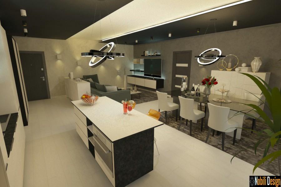 kuhinja interijera bucuresti apartman Apartmani za dizajn interijera u Bukureštu.