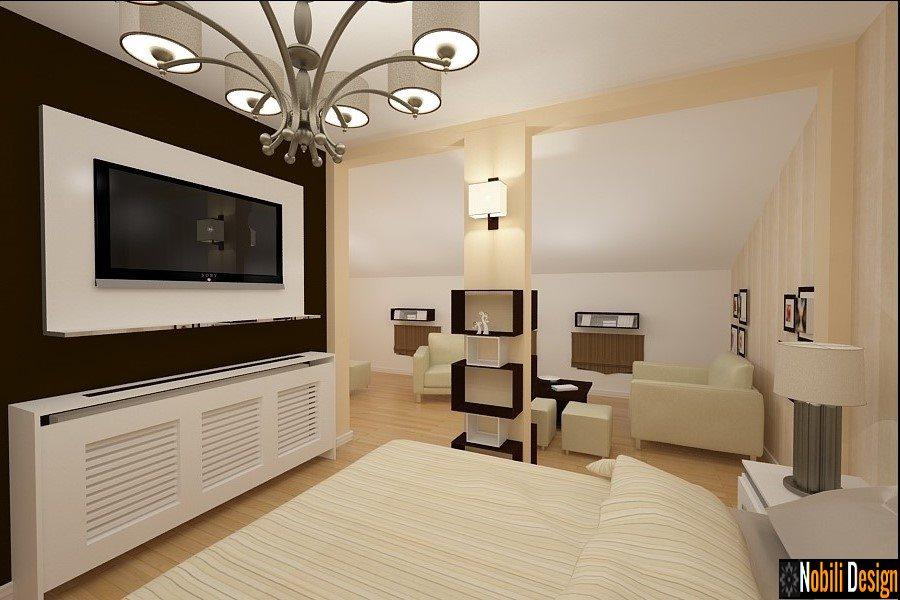 Amenajare interioara dormitor mansarda - Design interior apartamente ...