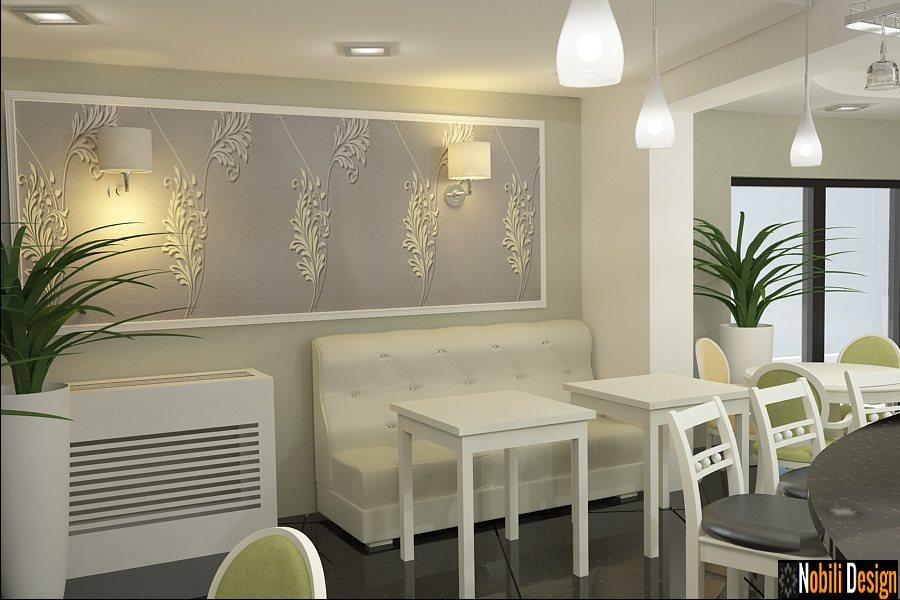 Design interior cafenea bar cu terasa