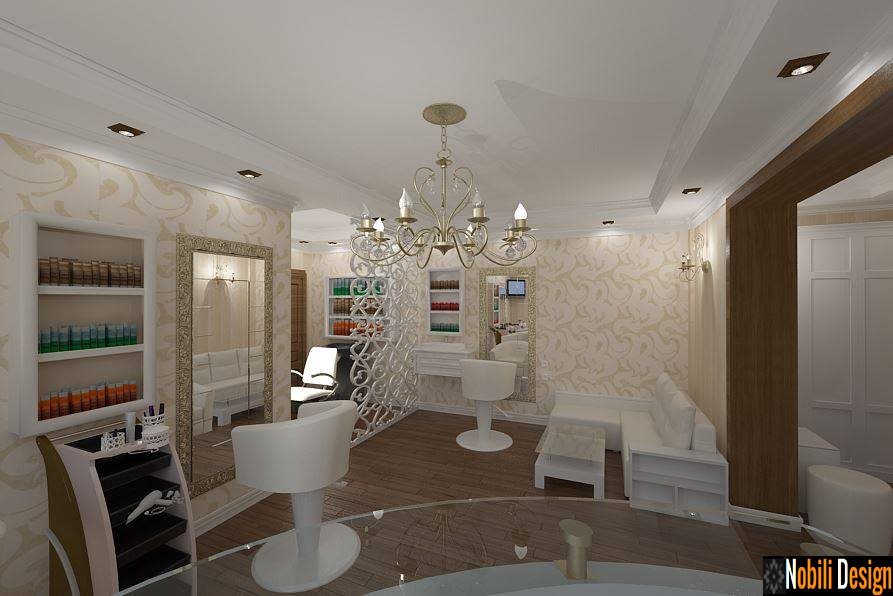 Design interior salon coafor clasic