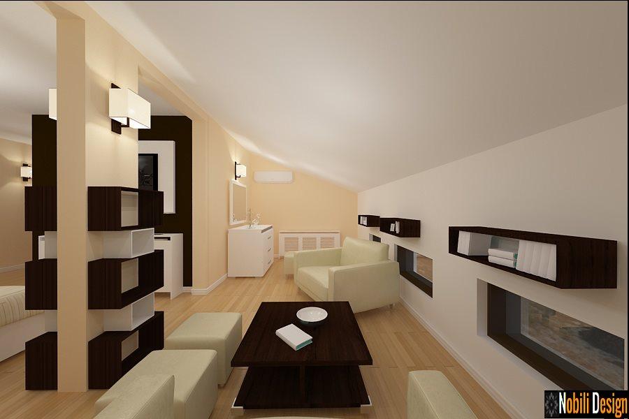 Design interior case vile cu mansarda