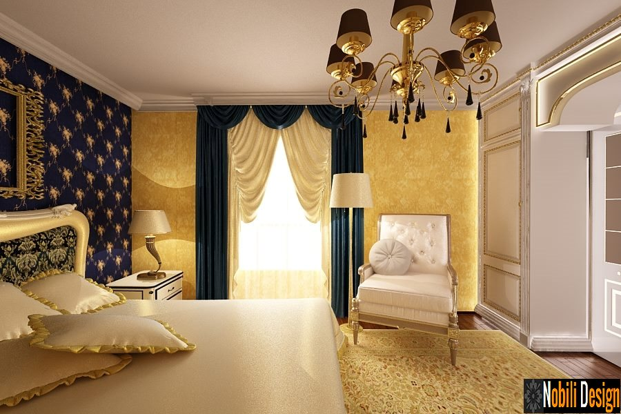 Design interior dormitor clasic casa Bucuresti