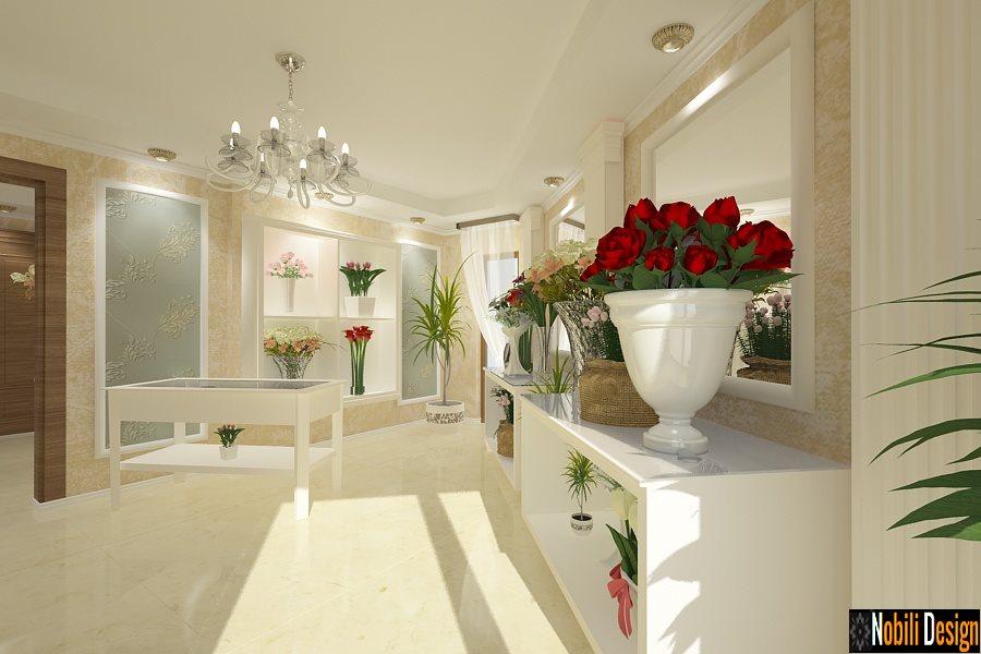 Design interior florarie de lux
