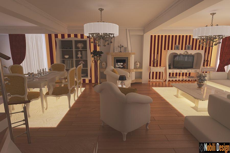 Design interior living casa mobila clasica