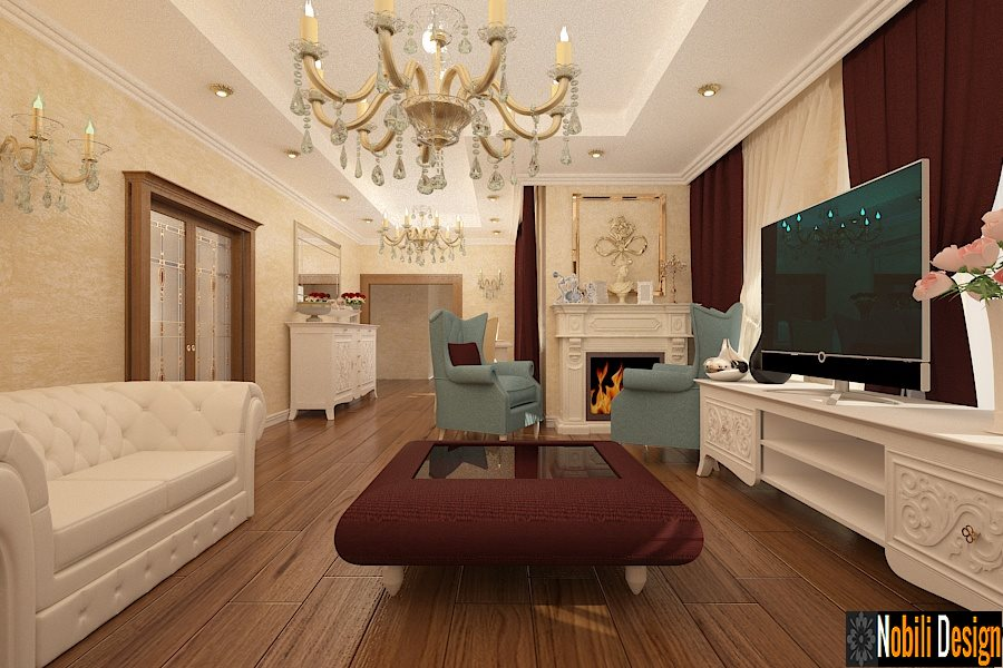 Design - interior - living - casa - stil - clasic - de-  lux - Bucuresti