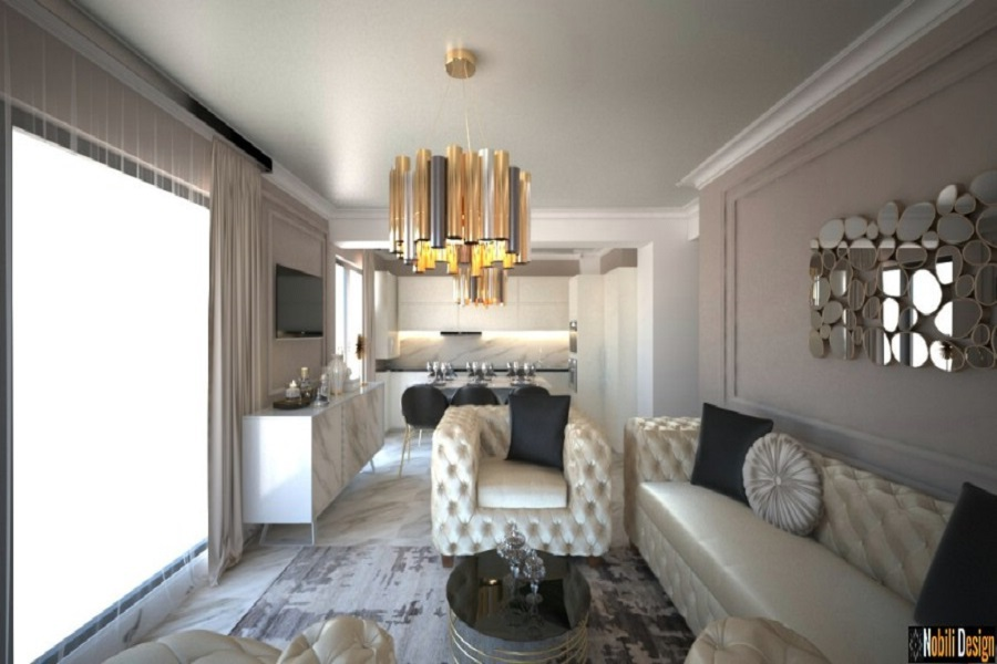 Design interior apartament clasic modern Mamaia Nord