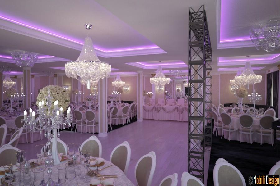 Düğün etkinlikleri salonu için iç tasarım.
