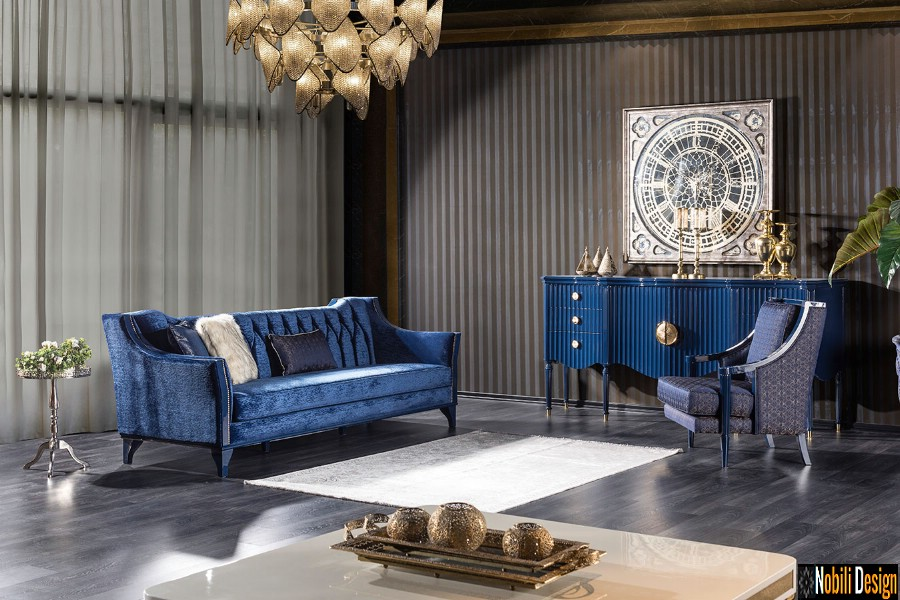 iç tasarım oturma odası klasik modern lüks mobilyalar | Bükreş'te oturma odası mobilyası düzenlemesi.