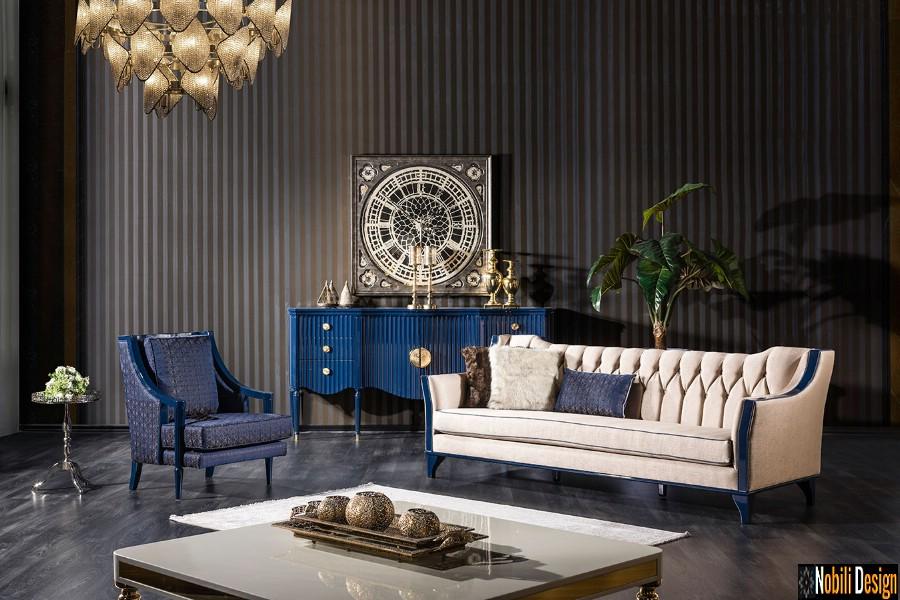 interior design classico vivere lusso lussuoso arredamento prezzi Disposizione del salone a Bucarest con mobilia.