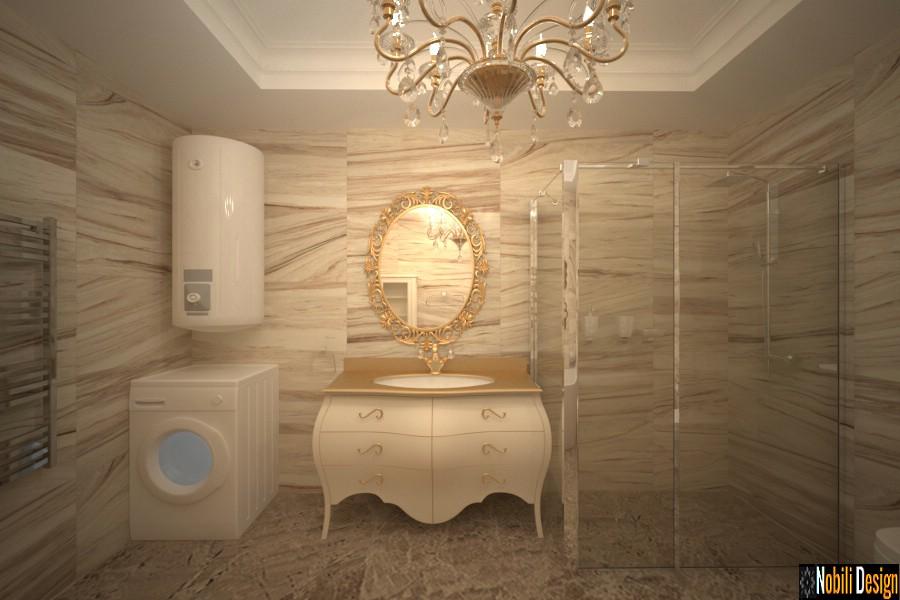 design de interiores banheiro clássico | Banheiro projetado em estilo clássico Craiova.
